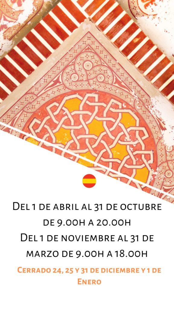 Horario Alcazaba
